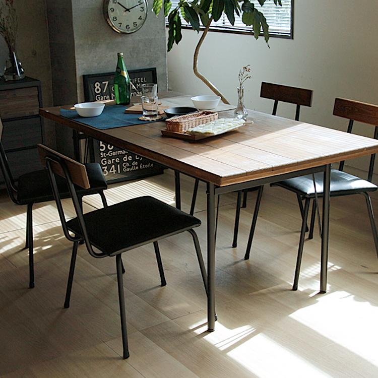 ダイニング5点セット KeLT(ケルト) ※テーブル幅140cmタイプ ダイニングセット ダイニング5点セット 5点セット ダイニングテーブル ダイニングチェア 4人 食卓 食卓テーブル 食卓セット 無垢材 アンティーク レトロ