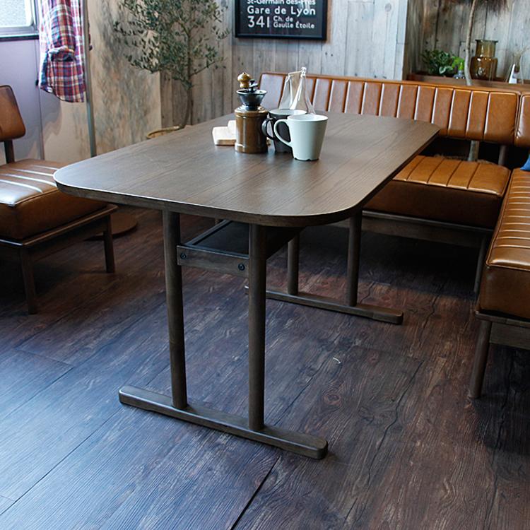 リビングダイニングテーブル DUO(デュオ) duo デュオ リビングダイニング ブラウン ダイニングテーブル リビングテーブル 北欧 木製 天然木 120 120cm ラバーウッド 無垢材 食卓 食卓テーブル