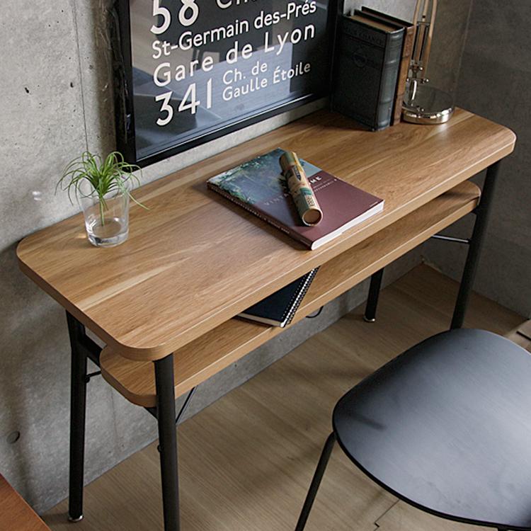 カウンターデスク Keit(ケイト) テーブル デスク 机 おしゃれ カウンターテーブル ビンテージ インダストリアル カフェ ハイテーブル ブラック 黒 木製 アイアン リビングルーム ワンルーム 新生活