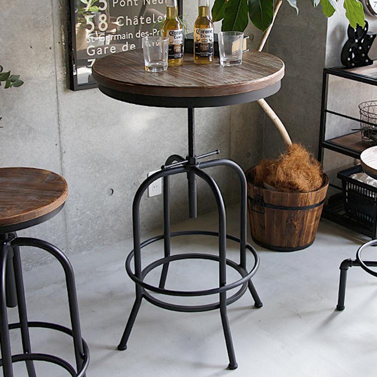 バーテーブル Tecc(テック) バーテーブル テーブル おしゃれ カウンターテーブル ビンテージ インダストリアル カフェ ハイテーブル シック モダン インテリア かっこいい ブラック 黒