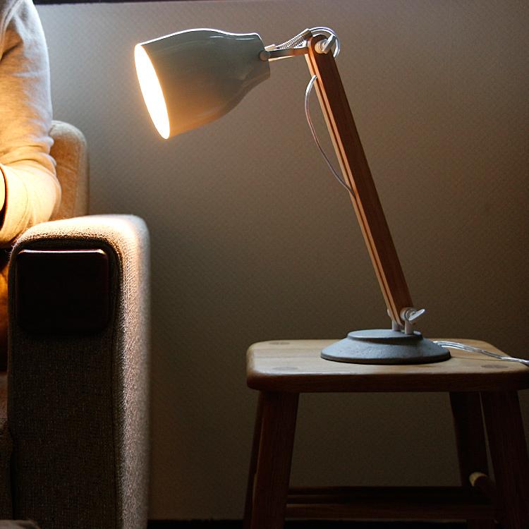 デスクランプ Falun(ファルン) デスクライト スタンドライト テーブルライト 学習机 間接照明 照明 LED対応 テーブルスタンド モダン レトロ おしゃれ 可愛い ホワイト シンプル ポップ モノトーン インテリア照明