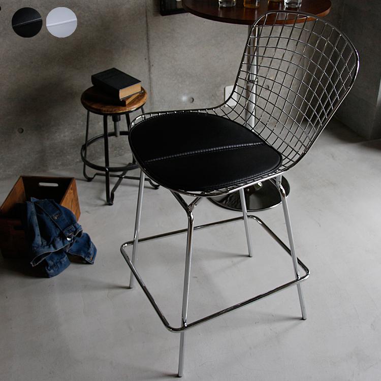 ハリー・ベルトイア ワイヤーバースツール カウンターチェアー カウンターチェア バーチェアー チェアー 椅子 イス ハイチェアー ブラック ハリー・ベルトイア アイアン リビングルーム ミッドセンチュリー 新生活