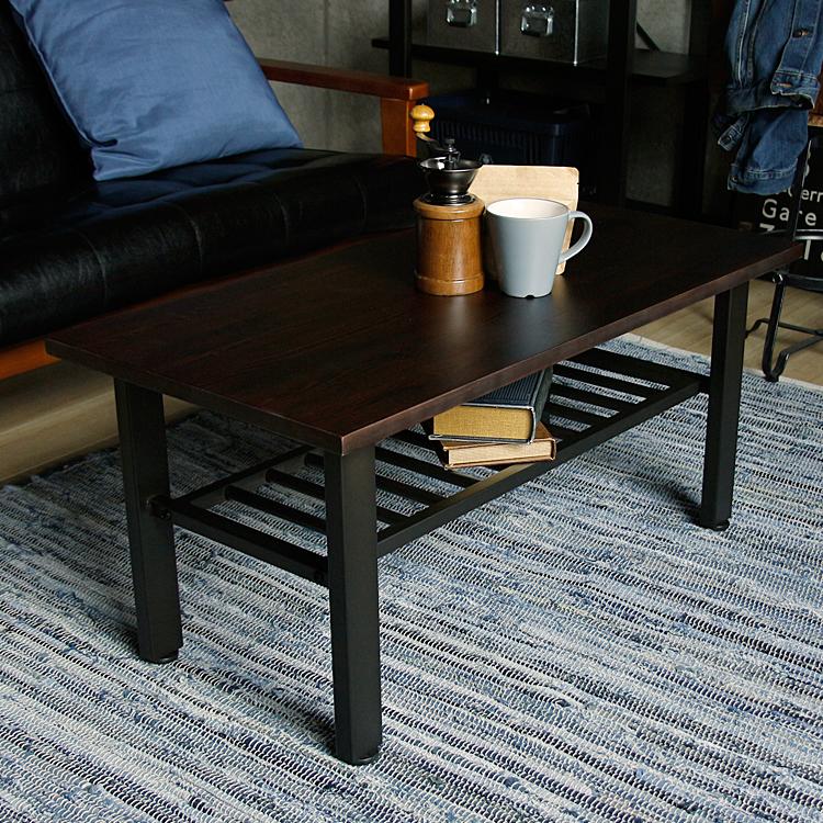センターテーブル SIVA(シーバ) センターテーブル 幅90 ローテーブル リビングテーブル テーブル 収納 木製 アイアン ヴィンテージ ビンテージ ブラウンイ ンダストリアル
