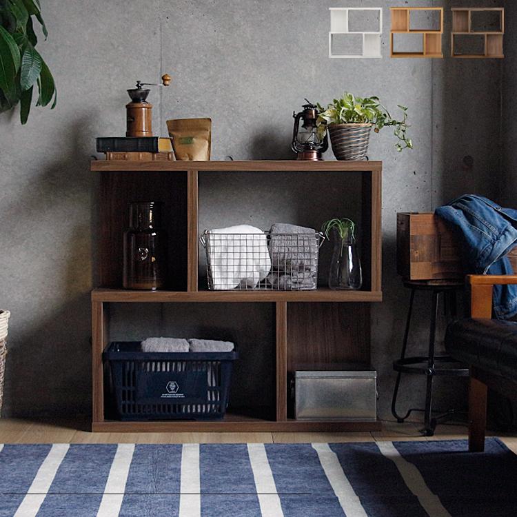 オープンシェルフ Serie(セリー) 高さ84cmタイプ ラック 木製 棚 シェルフ 収納 おしゃれ 幅90 北欧 リビング用 居間用 収納棚 収納ラック 間仕切り 本棚 オシャレ 西海岸 ディスプレイ 書棚 ダークナチュラル