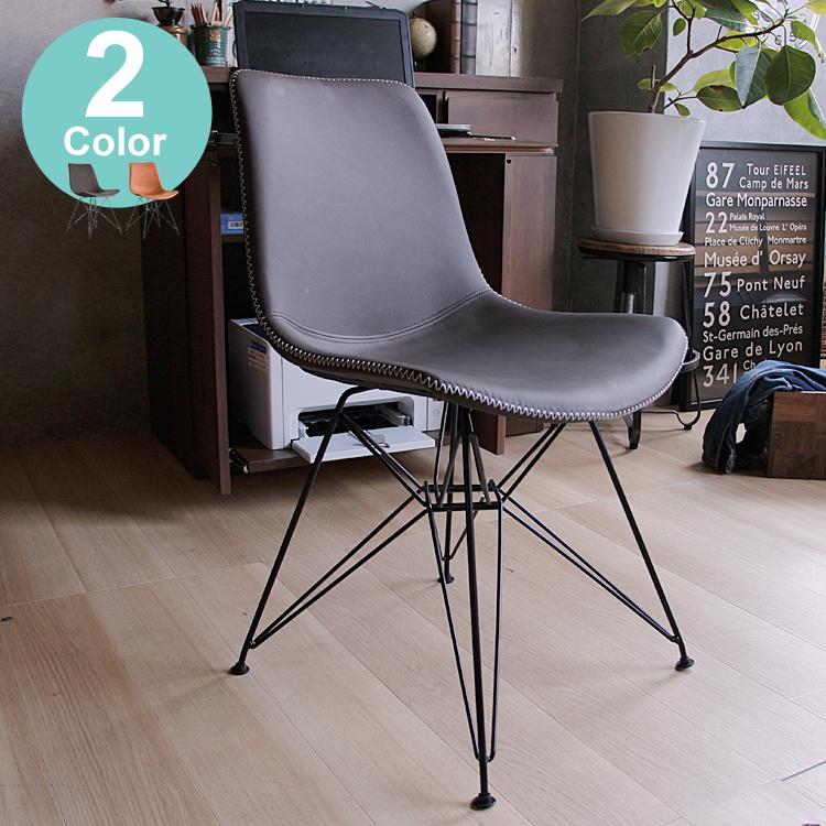 アルベールチェアー イス 椅子 いす チェアー チェア ダイニング チェア イームズ デスクチェアー ブラウン PVC レザー 新生活