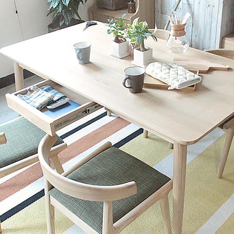 ダイニングテーブル Henry(ヘンリー) henry ヘンリー 木製 ダイニングテーブル テーブル 北欧 ナチュラル 食卓 リビングテーブル リビング 引出 収納 ダイニング キッチン