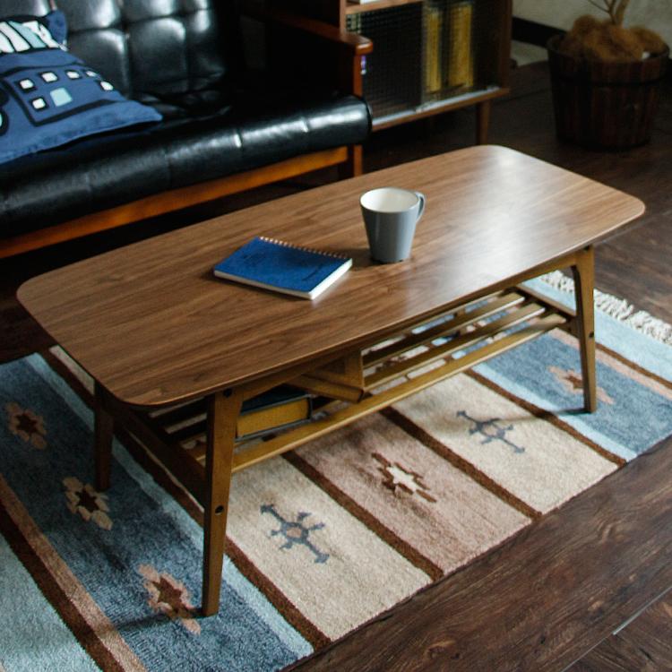 カフェテーブル Tomte(トムテ) トムテ tomte テーブル リビングテーブル コーヒーテーブル 木製 ウォールナット突板 ミッドセンチュリー 北欧 モダン ブラウン 茶色