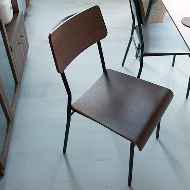 ダイニングチェア MONT(モント) モント ダイニングチェア ダイニング チェアー イス 椅子 いす 北欧 木製 MONT アルダー無垢 ヴィンテージ ビンテージ ブラウン 天然木 アイアン