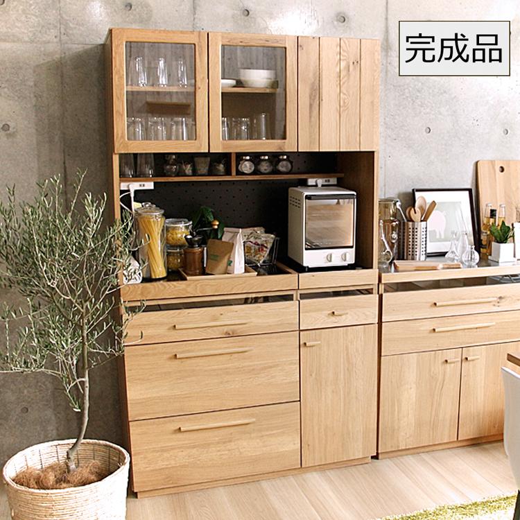 105キッチンボード OCTA(オクタ) 北欧 完成品 日本製 キッチンボード 食器棚 キッチン収納 レンジ台 収納 キッチンラック キッチンレンジ台 北欧 木製 ウッド ナチュラル モダン