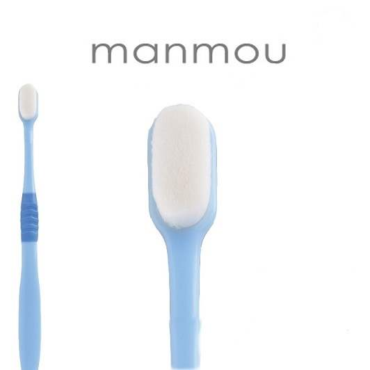 5本セット 送料無料 プラチナナノ歯ブラシ manmou ライトブルー マンモウ 万毛 はぶらし