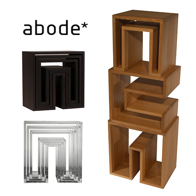 abode アボード SHOJI Nesting Tables ネスティングテーブル 3個セット[シンプルでおしゃれなデザインの家具 インテリアとしてもおすすめ ラックにもなる入れ子式の国産のテーブル] メーカー直送