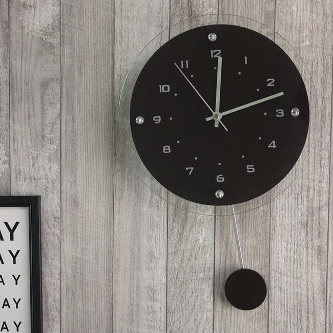 正規取扱店 壁掛け時計 1着でも送料無料 クロック ラウンド 丸型 壁掛時計 掛時計 洋室 和室 リビング ダイニング 子供部屋 おしゃれ R.C.S インテリア W-473 Antilles シンプル アンティール 電波時計 木製 掛け時計