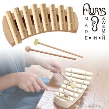 アウリス グロッケン ダイヤトニック8音 AUKDH008[楽器 おもちゃ こども 北欧 スウェーデン 木製 グロッケン プレゼント・ギフトにおすすめ 男の子 女の子 子供]