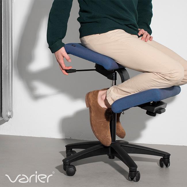 VARIER バリエール ウィング スタンダードカラー[ブラック 黒 イス いす バランス 作業椅子 学習椅子 軽い 背筋伸ばし 猫背対策 おしゃれ 組み立て椅子 高さ調節 キャスター付き]