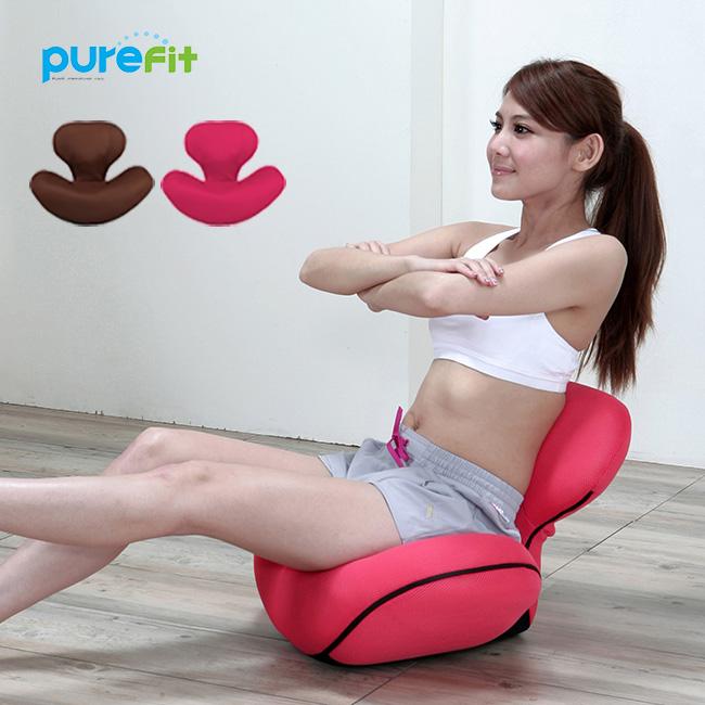 【クーポンあり】purefit ピュアフィット ゆらゆら姿勢座椅子 PF2300[普段は骨盤クッションとして使える骨盤エクササイズができる座いす ゆらゆらツイスト運動や腹筋を鍛える ながら運動 リクライニング 3段階]