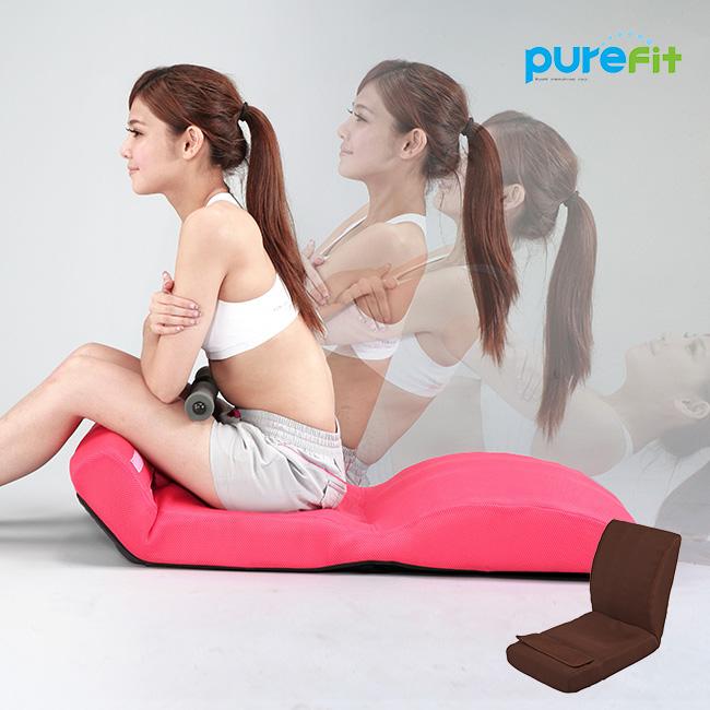 purefit ピュアフィット 腹筋のびのび座椅子 PF2500[S字ラインがすっきり伸びて美姿勢に 腹筋の運動ができる14段階リクライニング エクササイズ 猫背も伸ばす座いす] メーカー直送