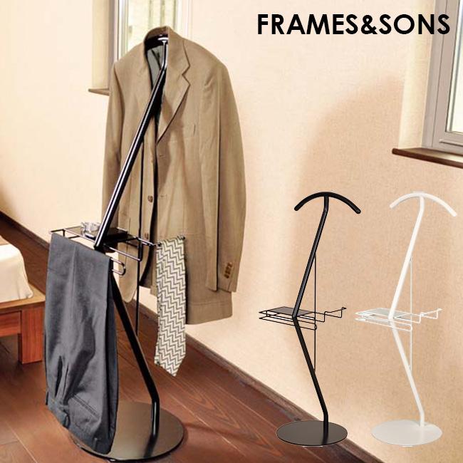 FRAMES&SONS スーツハンガー ゴーシュ KI06[国産(日本製)のシンプルでスタイリッシュなデザインのスーツ掛け 足立製作所のおしゃれな洋服掛け スチール製の収納家具・スタンド] メーカー直送