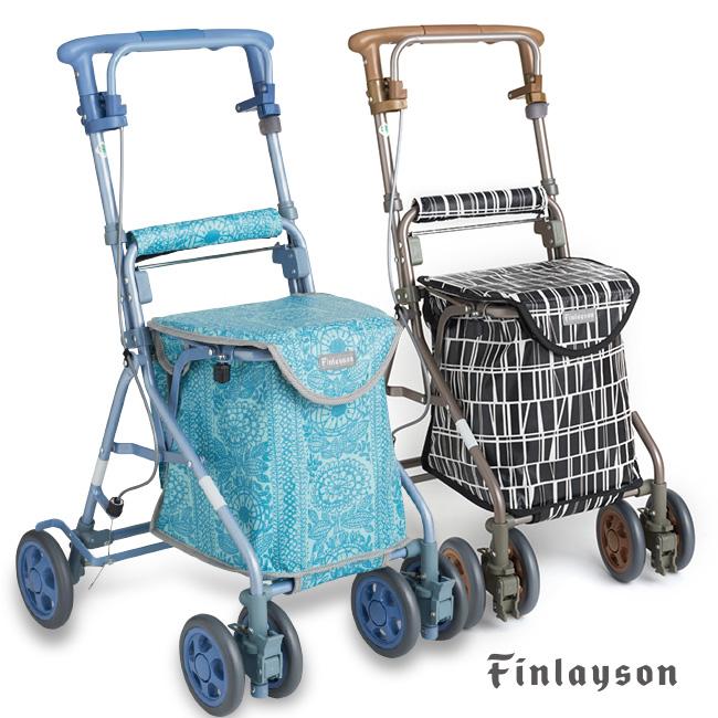 Finlayson フィンレイソン シルバーカー リズムRWC[高齢者用のおしゃれなキャリー 北欧テキスタイルがおしゃれなカート 折りたたみできる軽量なキャリーカート]