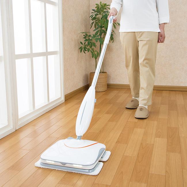 コードレス電動クリーナー ビートモップ El-80296[電動モップ コードレス 電動モップクリーナー 床掃除 リビング フローリング 拭き掃除 大掃除 水拭き 自立 汚れ ホコリ 掃除 モップ]