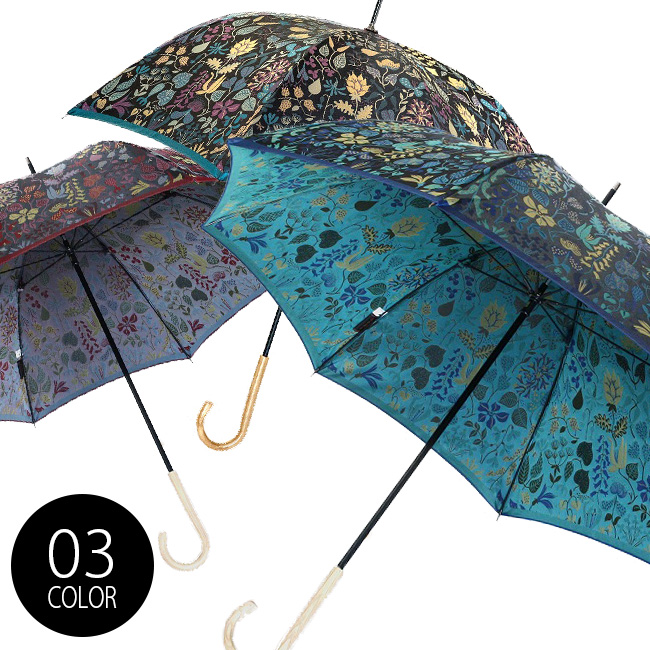 槙田商店 Stig L. 長傘 スティグ・リンドベリ HERBARIUM ハーバリウム[傘 雨傘 日傘 晴雨兼用傘 8本骨 60cm]