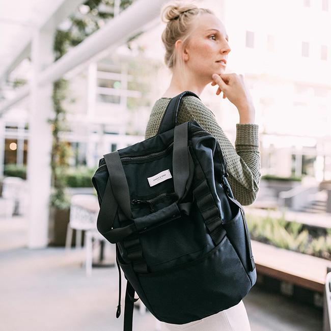 MNMLST PACK NO.1[グレー/ブルー/ブラック バックパック ショルダーバッグ 13インチパソコン 鞄 PCバッグ 通学 アウトドア]
