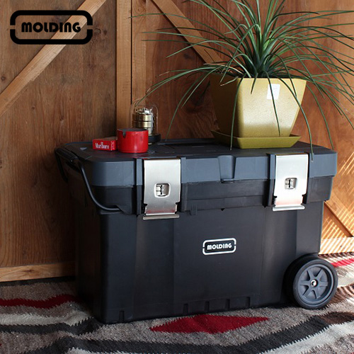 モールディング トランク ツールボックス カート キャスター付き 003041[おしゃれな収納ボックス キャスター付で大容量のボックス・収納カート キャンプなどのアウトドアにもおすすめの収納]