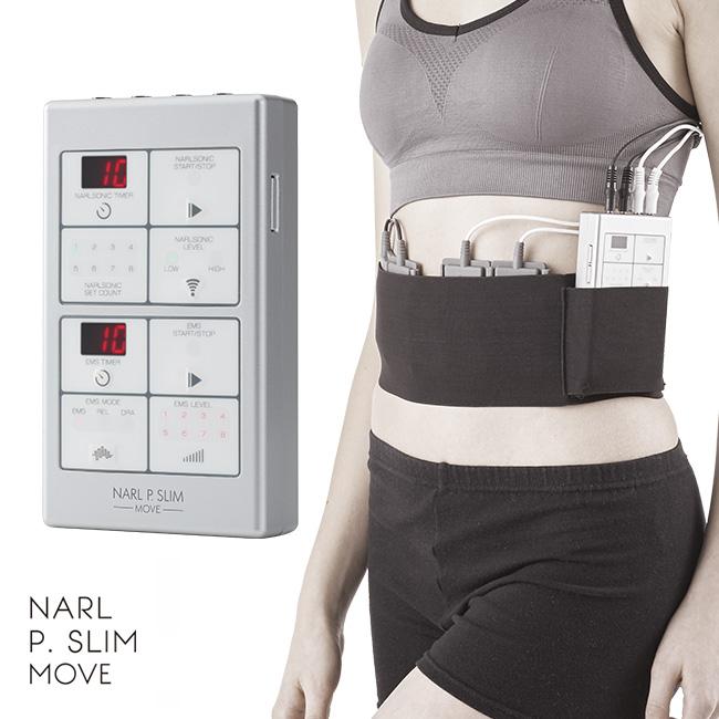 ナールピースリム・ムーヴ[おすすめの美容機器 超音波とEMSのダイエットマシン ボディの筋肉運動に人気の美容器具 手軽にEMSエクササイズできるEMSマシーン]