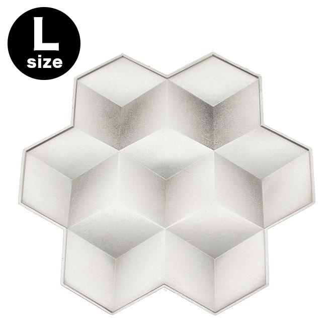 能作 Snowflakes-L[錫 錫製品 トレイ トレー 雪の結晶モチーフ 雪モチーフ 前菜 デザート プレート 皿 デザートプレート]
