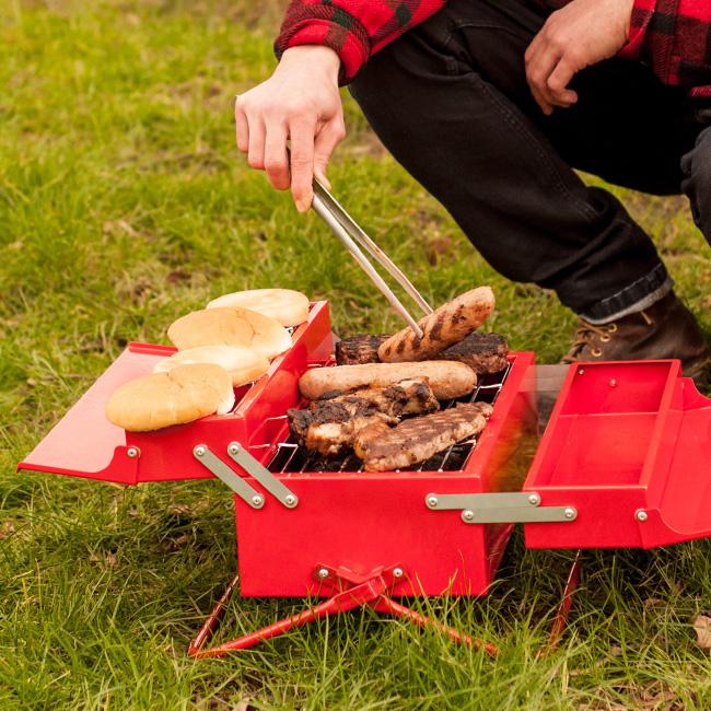 suck uk BBQ ツールボックス suko002[バーベキューグリル 折りたたみ バーベキューコンロ バーベキューセット テーブル 網 セット 一人用]