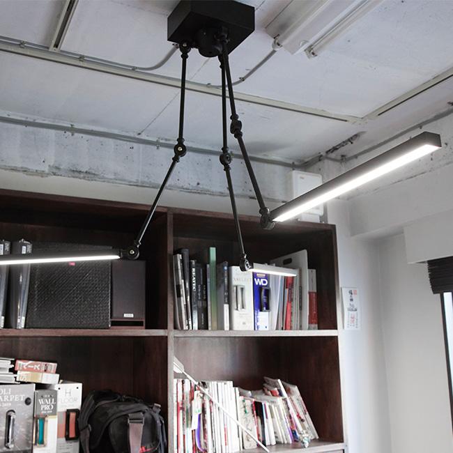 スタンドワーカー 3アーム型 LEDライト 昼白色 003217[LEDライト 天井照明 インテリア LED 照明 LED照明 ライト インテリア照明 おしゃれ BRID(ブリッド)] メーカー直送