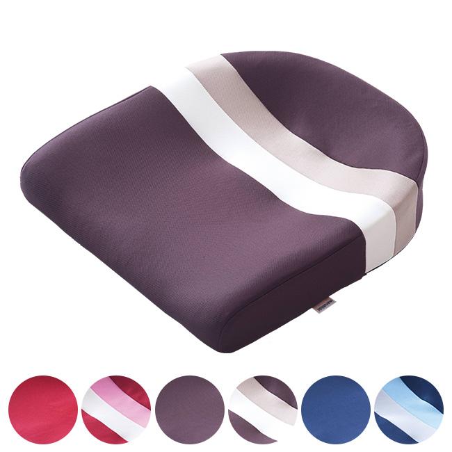 スポッとクッション[デスクワークにおすすめの日本製のクッション 洗濯可のイス用のシートクッション(座布団) 洗濯可能だからいつでも清潔!ブラウン・レッド・ネイビーから選べる]