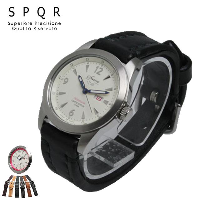 スポール セティマーナ SPQR Settimana×SOMESブライドルレザーバンド[メンズにおすすめのシンプルな腕時計 紳士用の革ベルト・レザーバンドのベーシックな時計 日本製]
