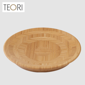 TEORI HACHI テオリ ハチ Lタイプ(平皿) TW-HL[竹集成材を使ったおしゃれな食器(料理が映える竹の器) 竹でできたおしゃれなデザインのお皿(皿/器)] 送料無料