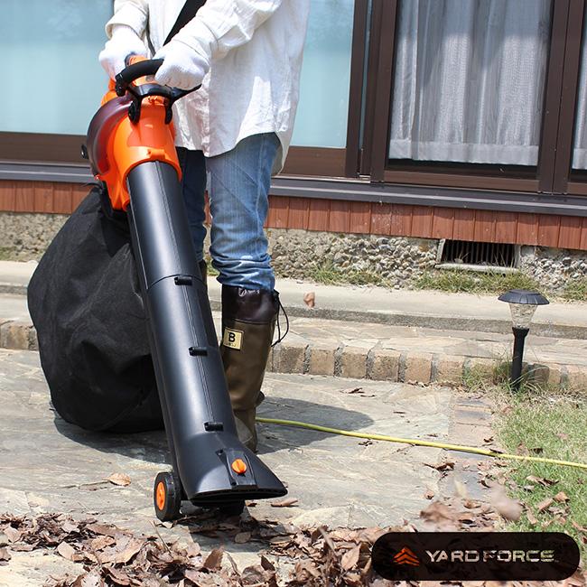 ヤードフォース ブロワー&バキューム YARD FORCE[ブロワーバキューム 落ち葉 掃除機 屋外 庭 枯れ葉 掃除 ブロワー バキューム クリーナー ブロワーバキューム]【即納】