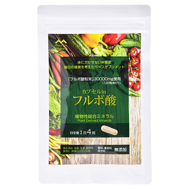 カプセル in フルボ酸120粒[安心の日本製(国内製造) 毎日の健康をサポートするサプリメント 無添加の健康食品 オーガニックのフルボ酸]