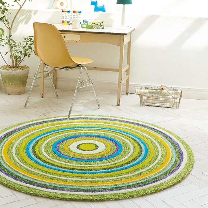 Green Circular Rug Rugs Ideas