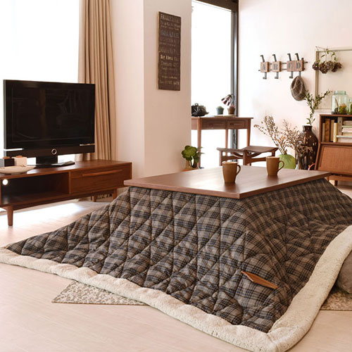 American Check Perfect For Casual Rooms Thin Kk 126 Kotatsu Futon Rectangle W190 D230cm Baking Sheet Size 120 X 80 Cm Or Less