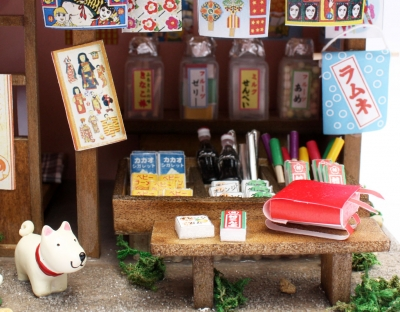 手作りドールハウスキット/駄菓子屋