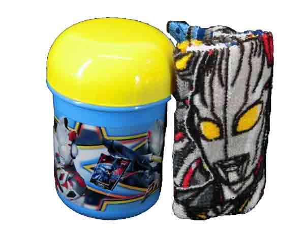 選択 ついに入荷 ケース付き ウルトラヒーロー ウルトラマンX エックス おしぼり+ケース 日本製 おしぼりセット ランチグッズ