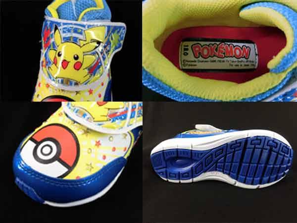 儿童孩子男孩 ★ 口袋妖怪设计鞋口袋妖怪尼龙搭扣鞋-我们-