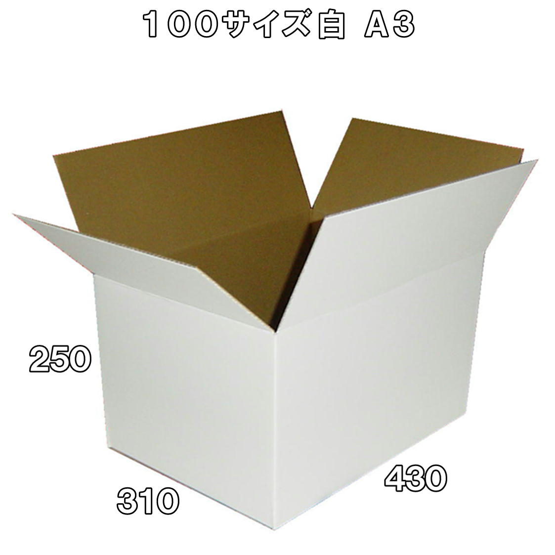 公式サイト 100サイズ白段ボール箱50枚 A3対応 期間限定特価品 底面から50ミリに便利線入 白さが品物を際立たせます 宅急便 宅配便 ゆうパックに 法人様向け 白 底面 A3 100サイズ 便利線入り※西濃運輸での配送となります※※沖縄と離島は対象外となります※ 箱 ダンボール 50枚