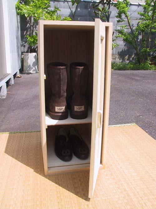 BOO-3総桐シューズBOX(時代仕上げ)ブーツの収納場所困ってませんかお洒落に収納!!【smtb-F】 02P11Nov11