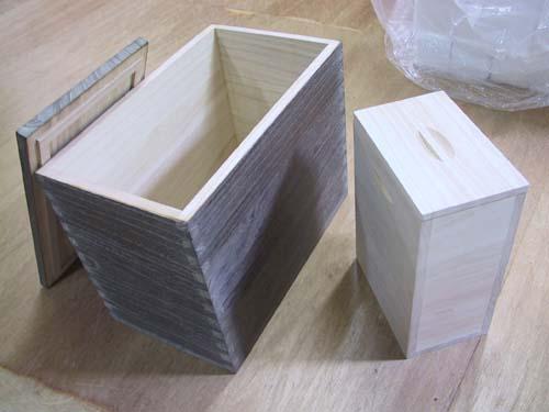 米櫃 木製 木箱 分別10kg・3kg 和モダ ン総桐米櫃(時代仕上げ) 製造直売 商品番号702Y