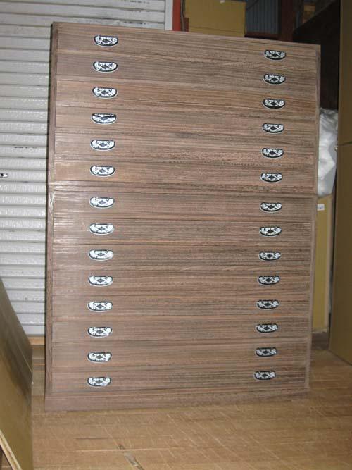 桐たんすモダン 法衣 袈裟 総桐法衣箪笥14段重時代仕上げ 製造直売 商品番号0714Y2