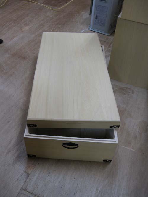 桐衣装箱 木製 木箱 着物 収納 総桐衣装箱1段 製造直売 オリジナル 商品番号450T1
