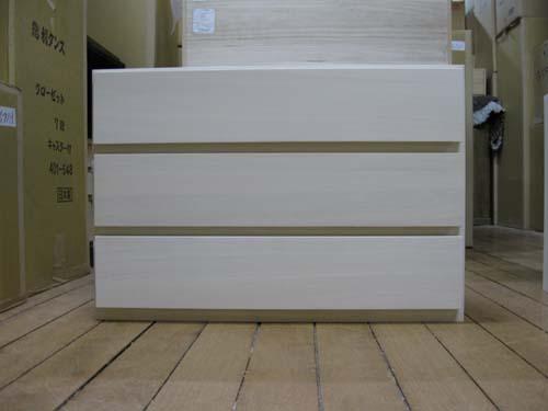 桐たんす 収納 総桐ユニット箪笥3段W755(自然塗装)全段レール付自然塗装でシックハウス対策にお子さんやお年寄りのお部屋に最適です【smtb-F】
