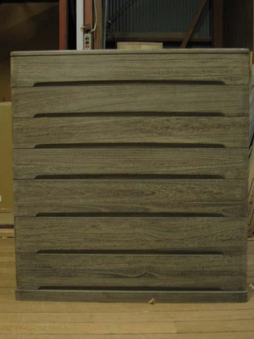 桐たんす 収納 和モダン 着物総桐クローゼット箪笥7段・時代仕上げ・全段通棚板 製造直売 商品番号548YTZ