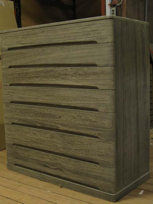 桐たんす収納チェストモダン着物 総桐クローゼット箪笥7段時代仕上げ 在庫処分 製造直売 商品番号548YA