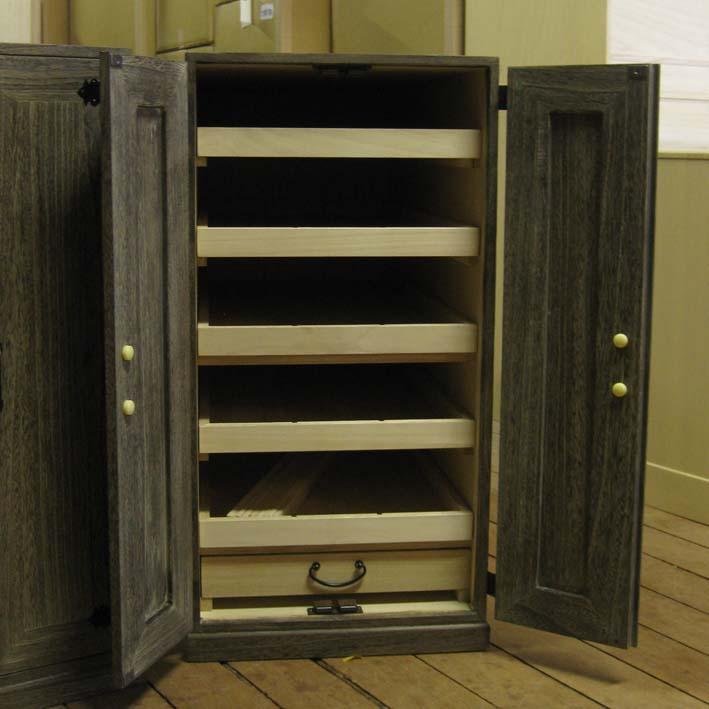 桐たんす 桐タンス 収納 掛け軸 オリジナル 総桐掛軸箪笥15本用・時代仕上げ製造直売 商品番号015Y