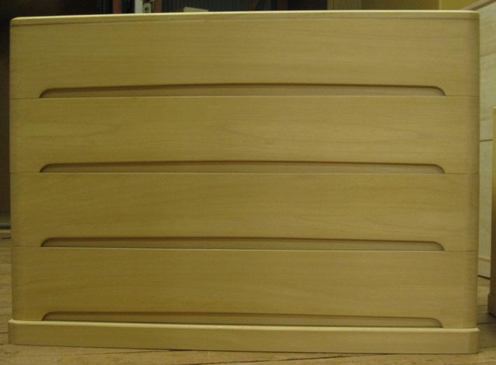 桐タンス 桐たんす チェスト 着物 収納 総桐クローゼット箪笥4段・全段通棚板